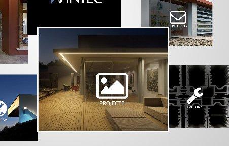 עיצוב עמוד הבית באתר וינטק