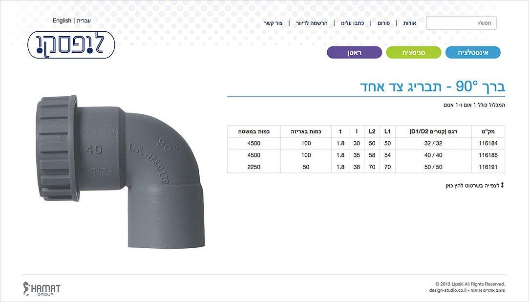 עיצוב עמוד מוצר באתר