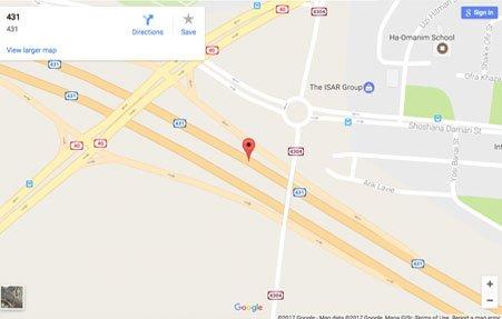 מיקום הפרויקט ע״ג מפה מודגש בעיצוב אתרים
