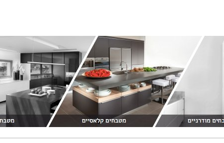 עיצוב עמוד אוסף מוצרים כחלק מרכזי בעיצוב אתר החברה