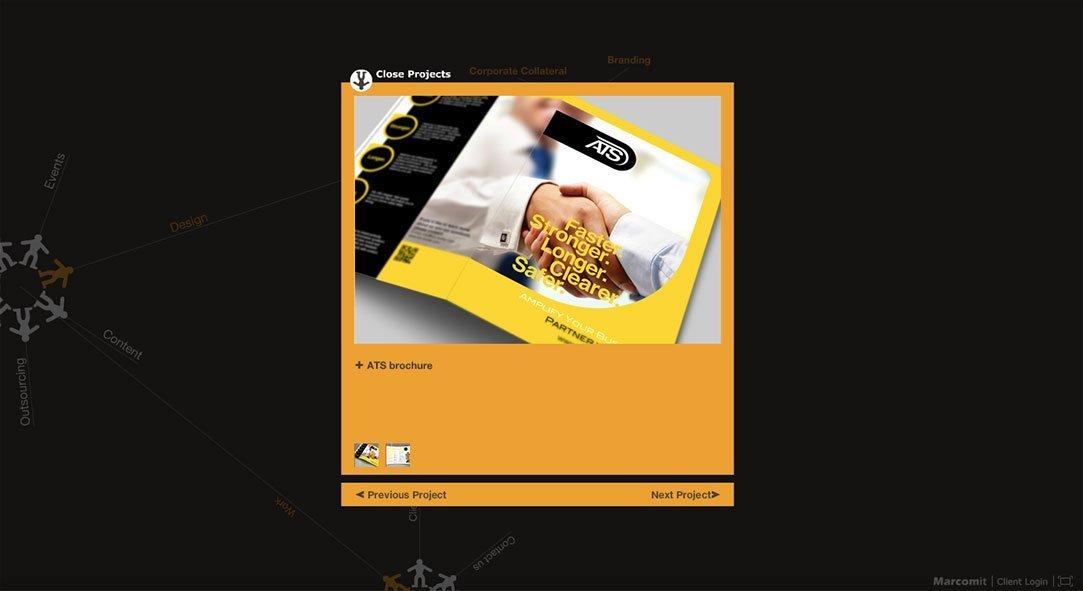 סטודיו לעיצוב משה ליברמן עיצב אתר אתר Marcomit