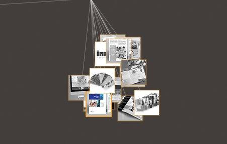 הצגה ויזואלית לתיק העבודות בבסיס עיצוב אתר מרקומית