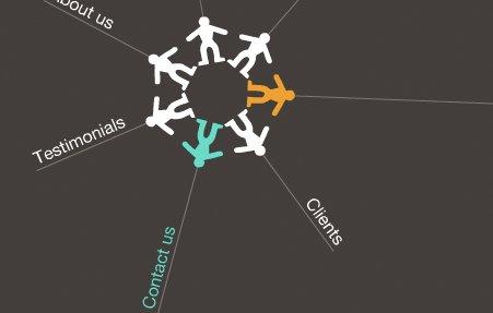 עיצוב האתר לחברת Marcomit ויצירה שפה צבעונית