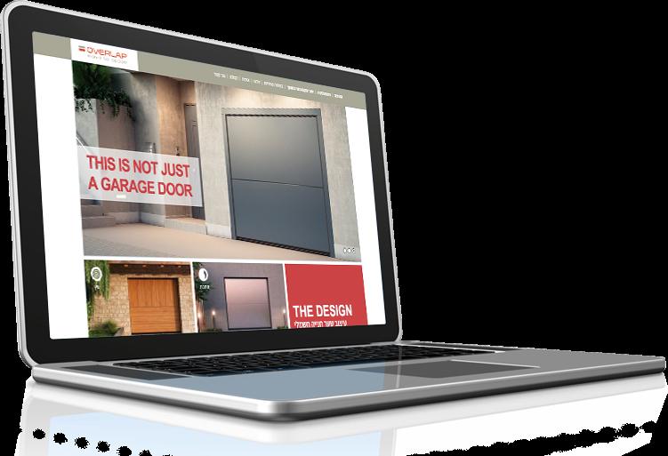 המחשה לעיצוב אתר לOverlap