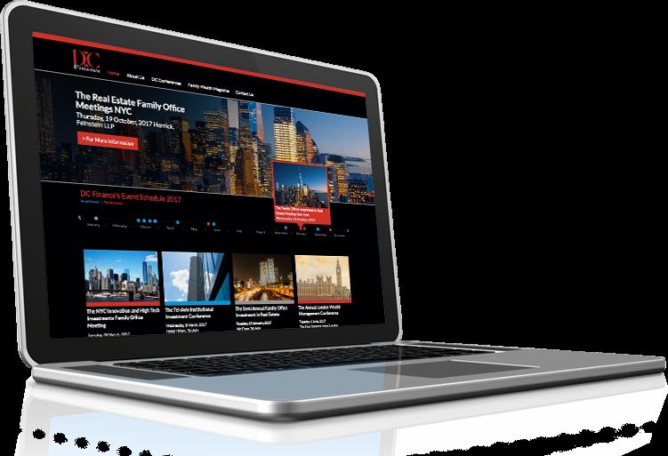 עיצוב אתר תדמיתי לדי.סי. פייננס